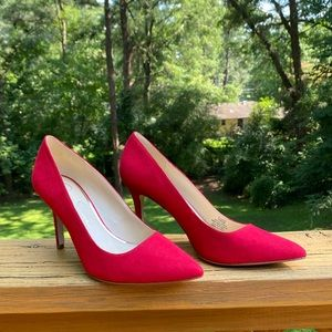 Jessica Simpson red suede high heels size 7.5